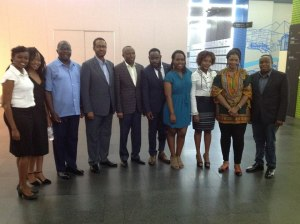kck-outgoing-officials-pose-with-amb-m-gello-forth-ftom-left-flanked-by-deputy-head-of-mission-gathoga-chege-and-mrs-gaudencia-ayisi-second-from-last-on-the-right